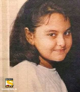 Sonakshi Sinha in school days