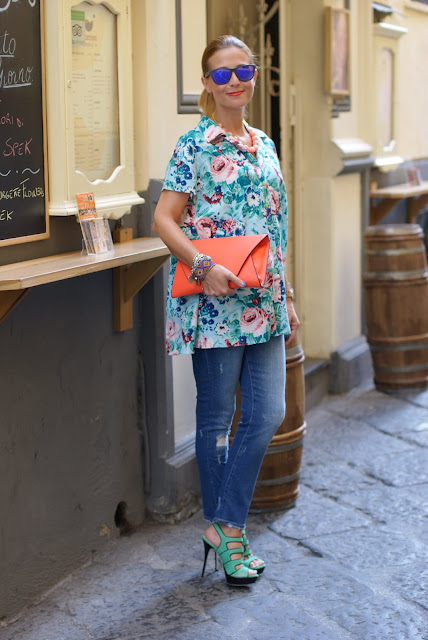 Kenzo floral print, Kenzo shirt, Loriblu heels, Fashion and Cookies, fashion blog