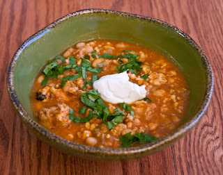 Blog About Food: Crockpot Turkey White Bean Pumpkin Chili