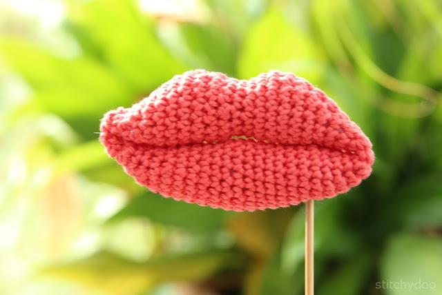 Gehäkelte Lippen - gehäkelte Kleinigkeiten - Mund