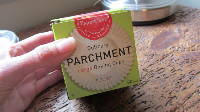 a box of parchment baking cup liners