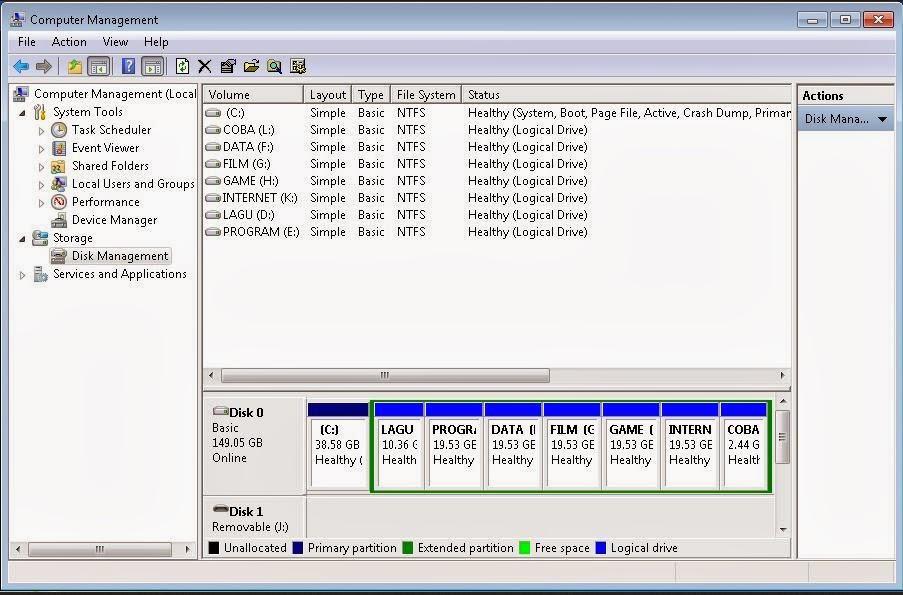 Cara Partisi Hardisk Tanpa Software Di Windows 7