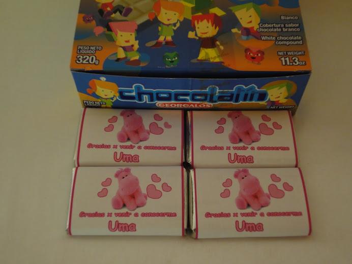 Chocolates Personalizados Nacimiento; Souvenirs