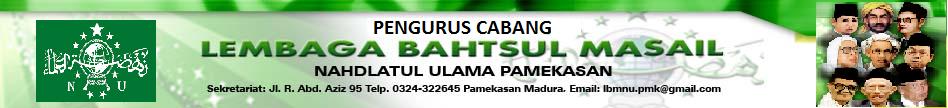 Lembaga Bahtsul Masail Nahdlatul Ulama Kabupaten Pamekasan