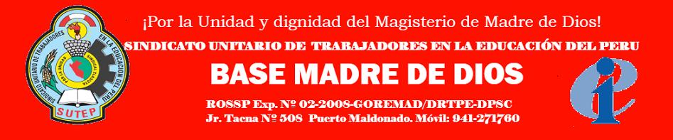 WEBB DEL SUTE REGIONAL MADRE DE DIOS