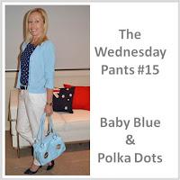 Sydney Fashion Hunter - The Wednesday Pants #15 - Baby Blue & Polka Dots