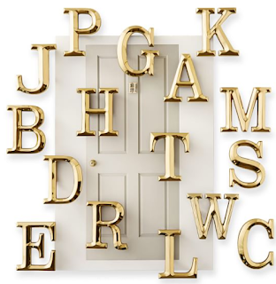 alphabet door knocker