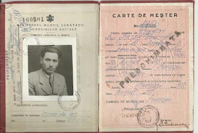 id. Szász György mesterkönyve - Brassói munkakamara 1947 aug. 23.