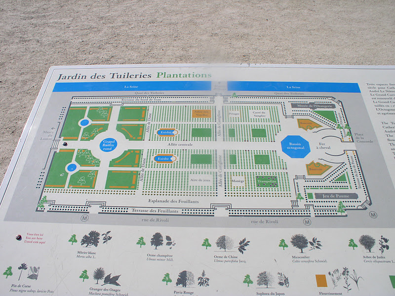 From paris with love le jardin des tuileries - Plan detaille du jardin des tuileries ...