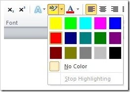 Change Highlighter Color Pages