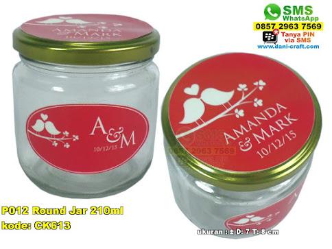 P012 Round Jar 210ml