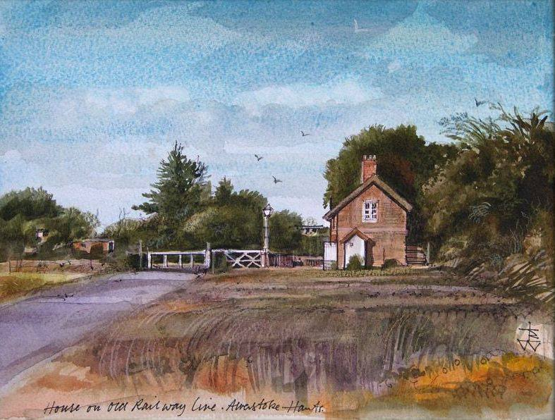Painting of Admiralty Cottage in The Crescent