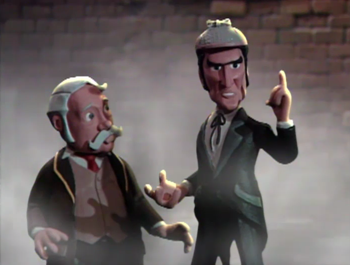 A claymation Sherlock Holmes vs. Jack the Ripper - you won't believe what happens next