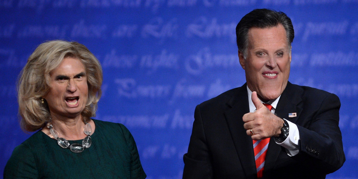 mocking words mitt and ann switch creepy faces