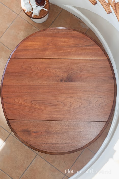 Overhead View of Drop-Leaf Table - Flotsam of the Mind