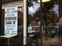 The Brown Bag Cafe Exterior