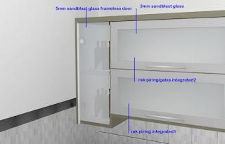 furniture semarang - desain kitchen set minimalis pintu kaca engsel hidrolis 02