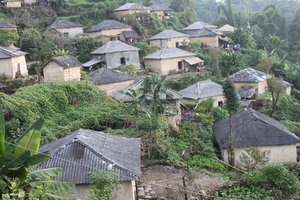 Village of the Hà Nhì ethnic people in Đào San