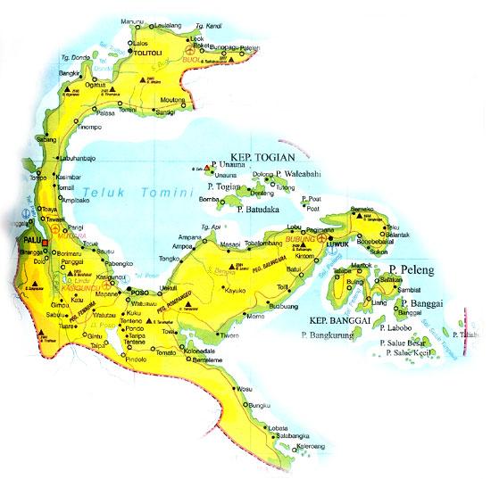 Peta Sulawesi Tengah