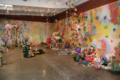 Installation view of Hysterical Paradise, JVanderpool, 2008