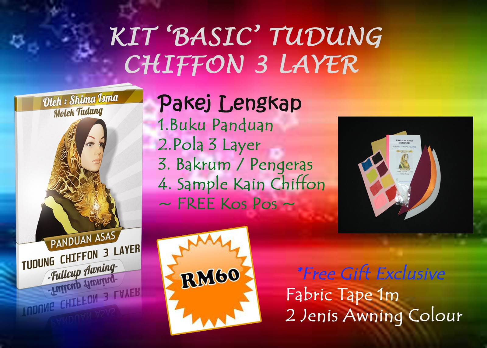 KIT TUDUNG CHIFFON LAYER