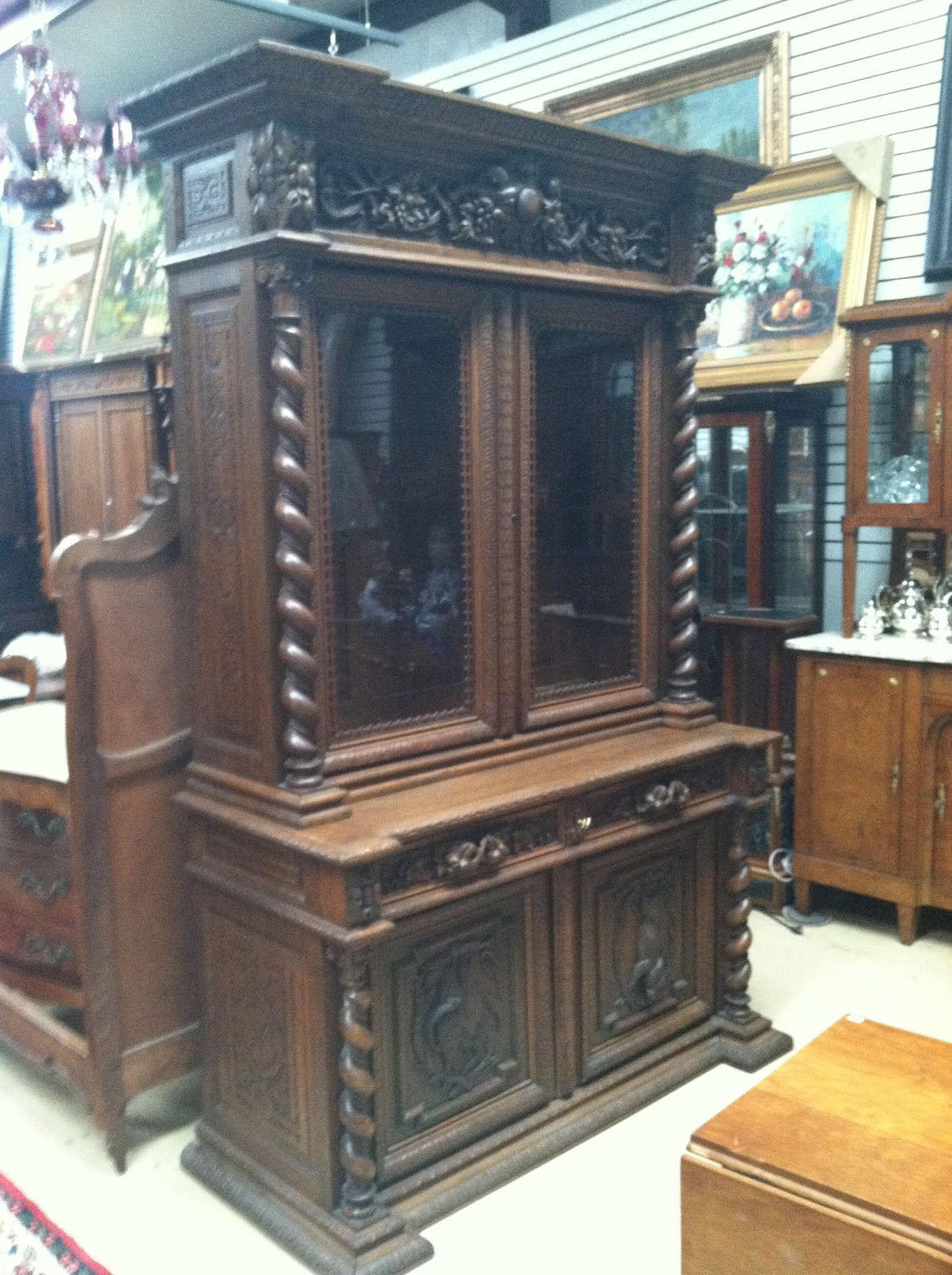 Converted Hunt Cabinet - ANTIQUE ATTIC: Converted Hunt Cabinet