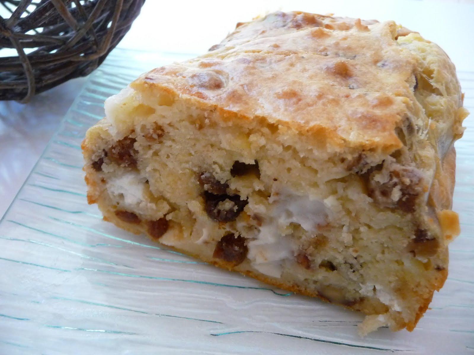 Cake chevre raisins secs noix