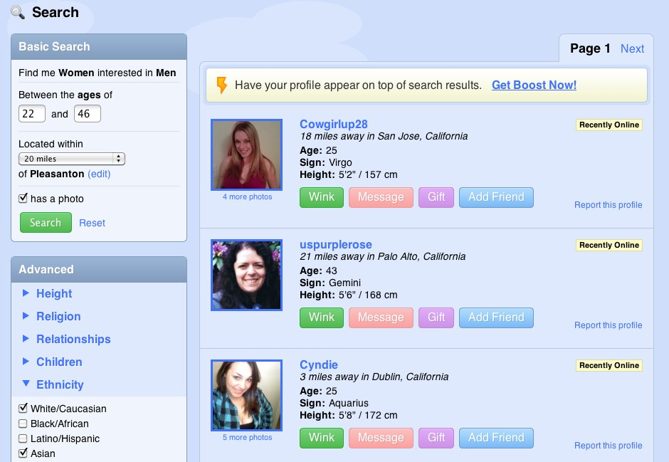 dating reviews zoosk