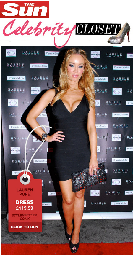 Lauren Pope, Bandage dress from Style Me Celeb
