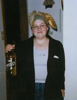 Me in 2004 dressed as the Easter Bunny for adults of drinking age