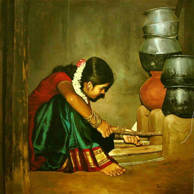 Paintings of Dravidian Women6