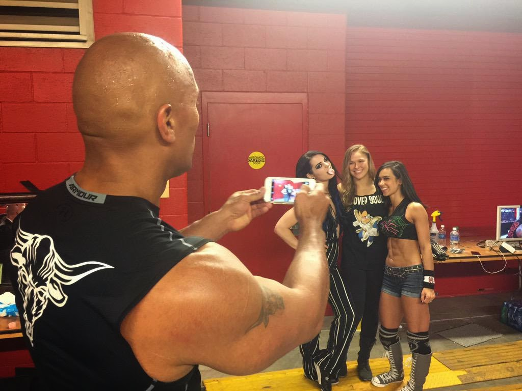 30 Rock Camera : Nwk to mia: ronda rousey made the rock hold the camera while she