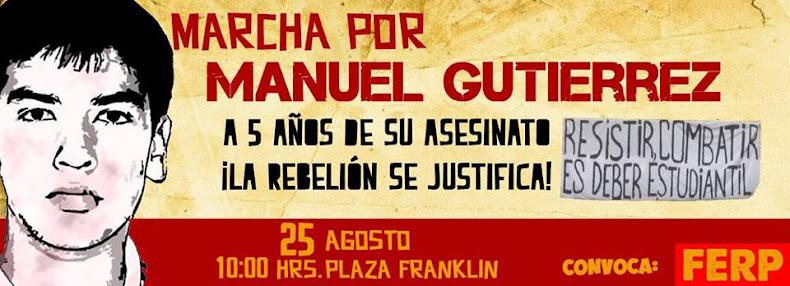 SANTIAGO:  MARCHA POR MANUEL GUTIERREZ, A 5 AÑOS DE SU ASESINATO