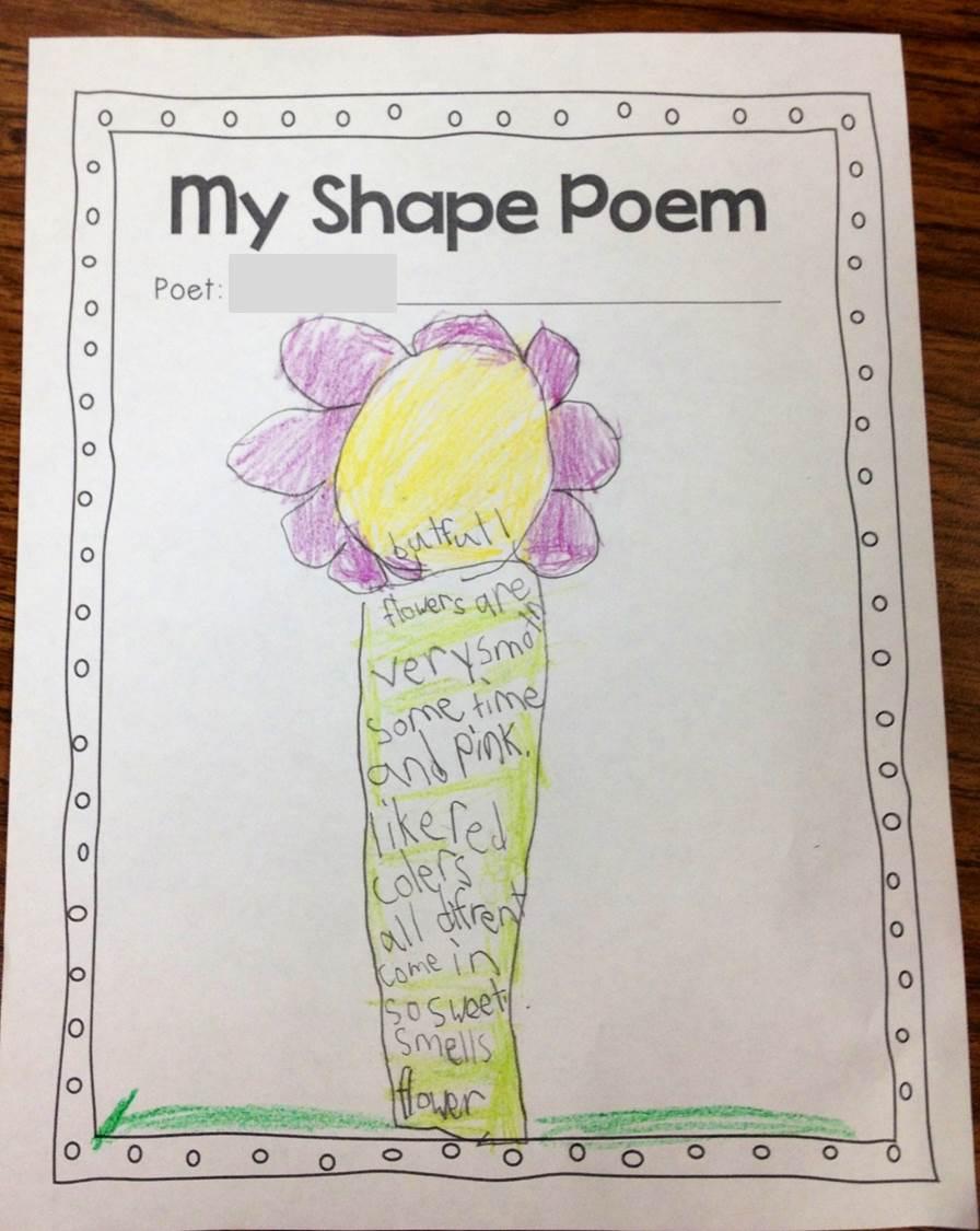 flower shape poem template
