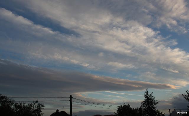 Tempête à Lyon : ciel de soirée