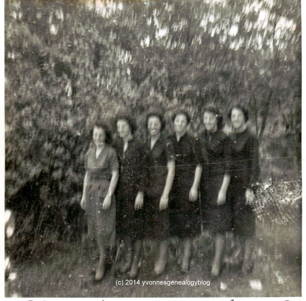 Jacqueline Desgroseilliers with her sisters at their father's funeral in 1960