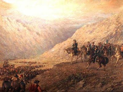 'El Paso de los Andes', óleo de don Augusto Ballerini. Museo Histórico Nacional.Buenos Aires. Tomado de www.sanmartinianostdf.org.ar