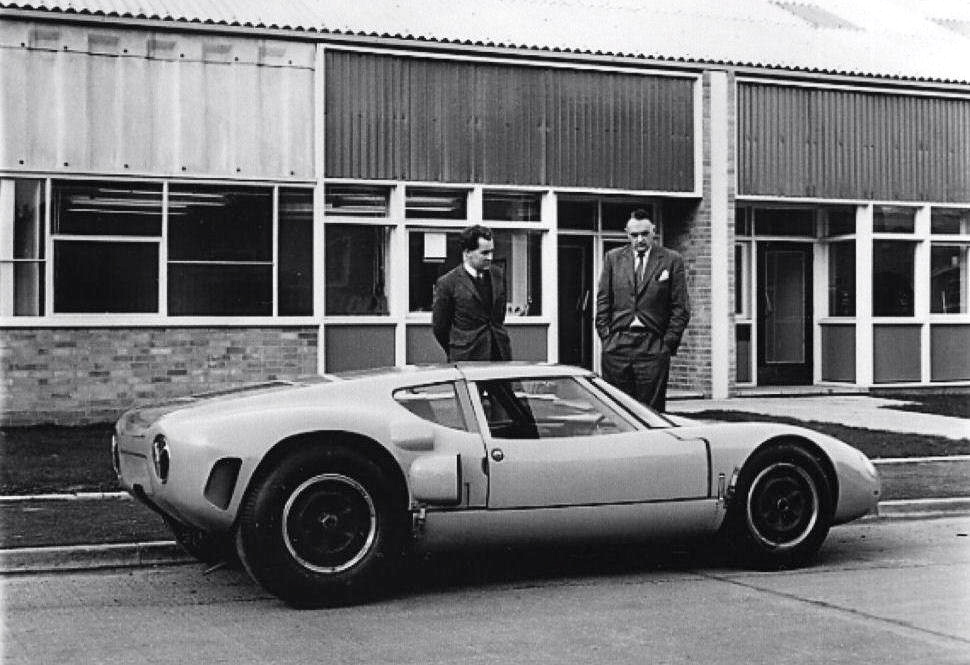 Eric Broadley Left And John Wyer With Broadleys Mark  Lola Gt Although The Car Was Dnf At The Nurburgring  Km And Lemans In