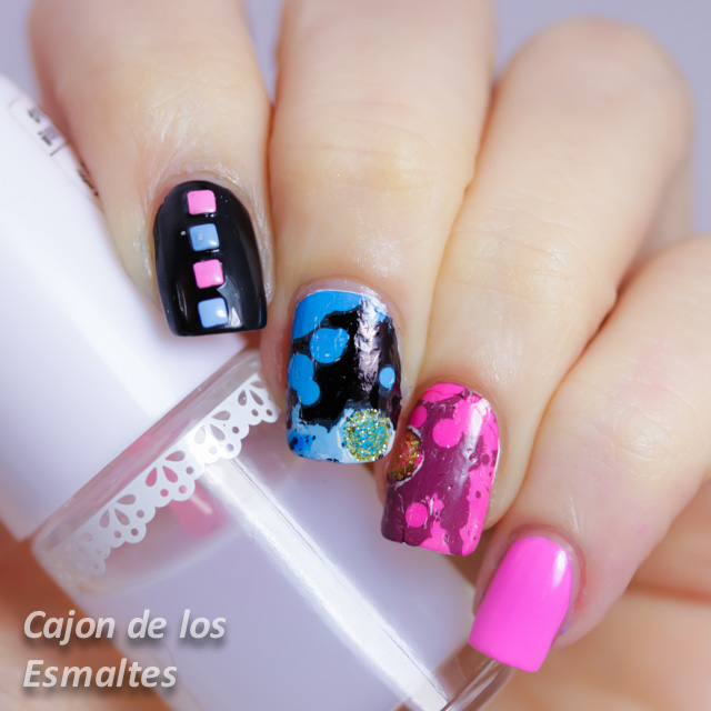 Decoración nail art 80's neones decals