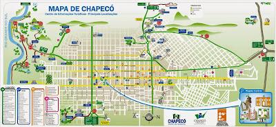 Mapa da cidade de Chapecó