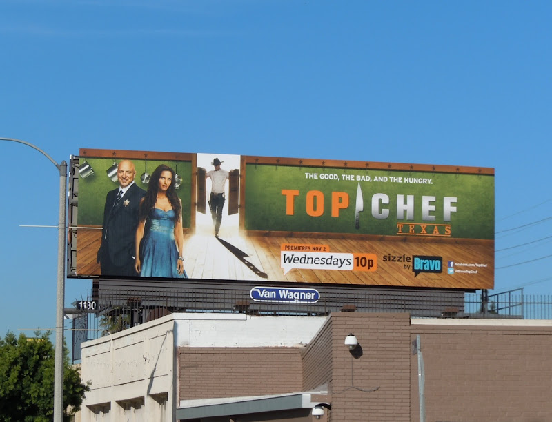 Top Chef Texas TV billboard