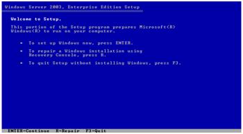 Tahap Installasi Windows Server 2003