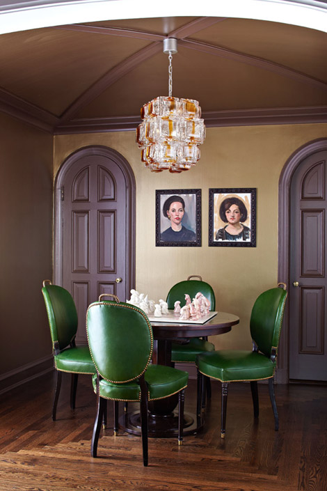 La Maison Boheme Green Dining Chairs