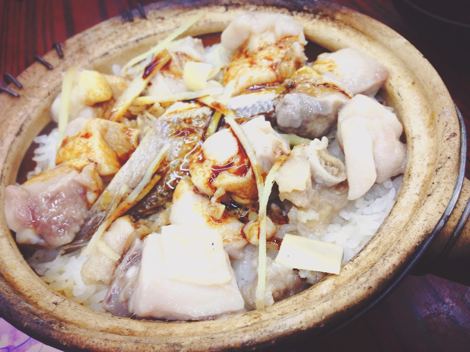 Chicken & Salted Fish Claypot Rice at Four Seasons Claypot Rice Temple St
