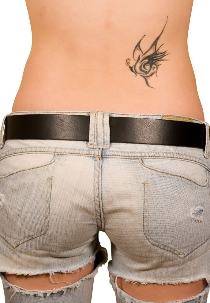 girls tattoos on lower back