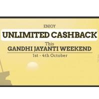 Taxiforsure Gandhi Jayanti Weekend Offer : Get 75% Cashback on All Rides