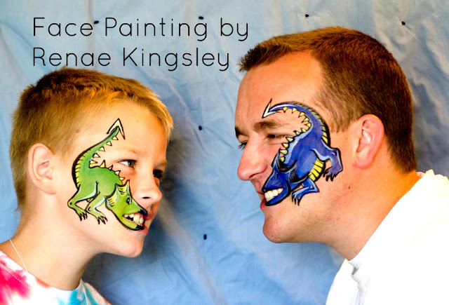 dragon body art, face paint dragon, funny dragon, clever dragon, unique dragon