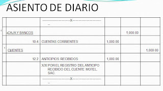 Asiento diario nic 18