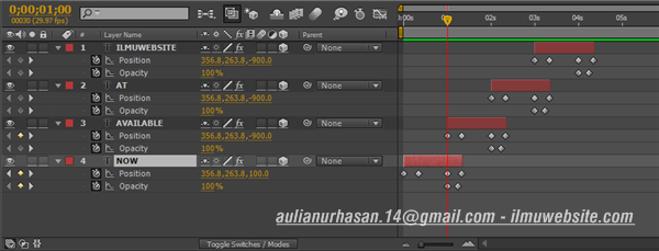 Membuat Flying Titles Opening Film di After Effects