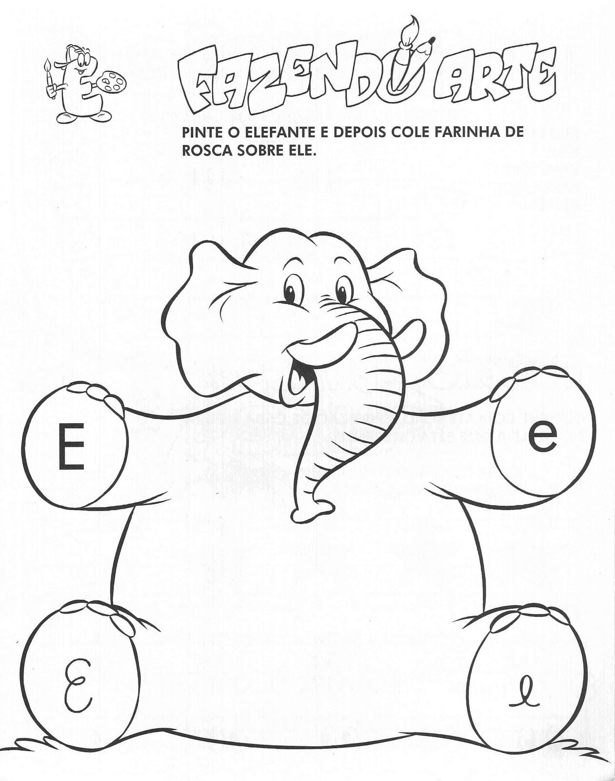 Atividades   A Vogal E  Atividades   A Letra E